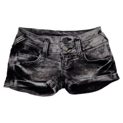 Smarte shorts i sort vasket denim