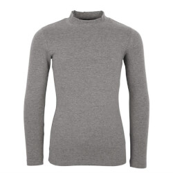 Super smart turtleneck t-shirt i gråmelange