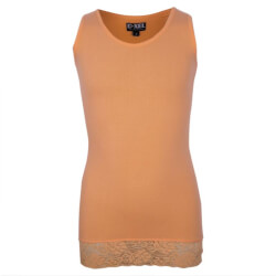 lys orange top fra D-XEL model Buffy med blondekant
