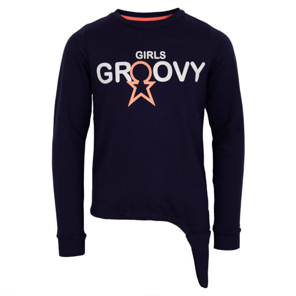 Super smart sweatshirt i blå fra Groovy