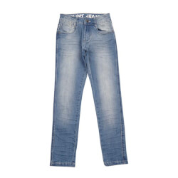Regular fit jeans fra Grunt i kloret lys denim