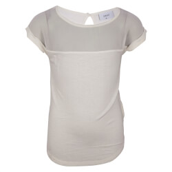 Smart off white t-shirt fra Grunt med chiffon