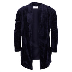 Smart navy velour blazer fra Grunt