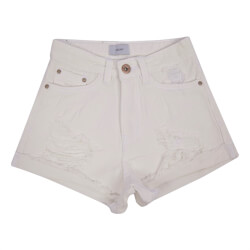 "Hvide shorts med slidhuller i ""mom""-facon fra Grunt - Mom Shorts White, 1813-206-WHITE"