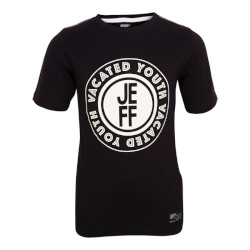 Skøn sort T-shirt fra Jeff - Slim fit