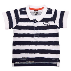 Kids Up Polo t-shirt i hvid/navy - varenr 6103108-0001