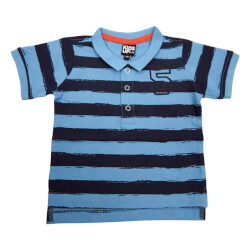Polo t-shirt fra Kids Up i blå/navy - varenr 6103108-5150