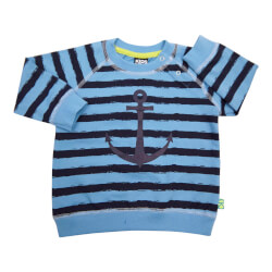 Kids Up Maties sweatshirt i blå/navy - varenr 6103111-5150