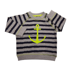 Maties sweatshirt fra Kids Up - grå/navy - varenr 6103111-741