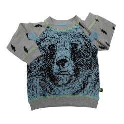 Bjørne t-shirt fra Kids Up Baby - grå og turkish blå 6108212-741