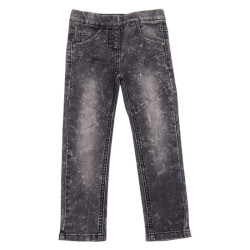 Fede sorte leggings i denim fra Kids-Up