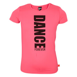 Smart t-shirt fra Kids Up i pink med sort print