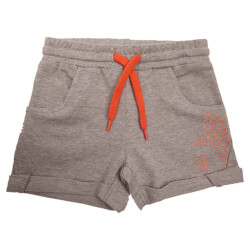 Smarte grå melange shorts fra Kids Up