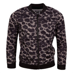Smart cardigan fra Kids Up i sort og grå leopard