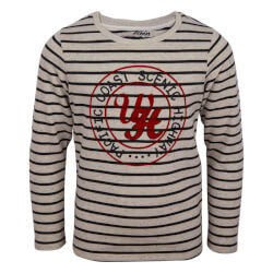 Smart stribet sweatshirt med print fra Koin