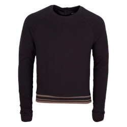Super smart sweatshirt fra Maybee i sort og navy