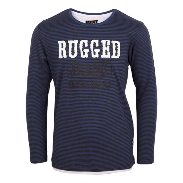 Image of Rebus - T-shirt worker blue