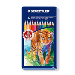 "Staedtler - 12 stk. Farveblyanter ""Animals"""
