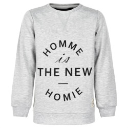 Grå melange  sweatshirt fra The New med print