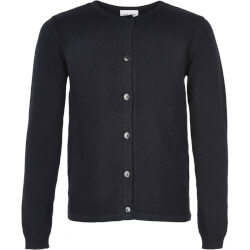 Navy strik fra The med knapper foran basic knit