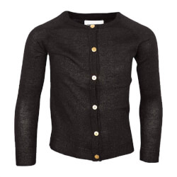 Sort cardigan fra The New model Aya 1007-black set forfra