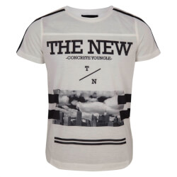 Smart kortæmet t-shirt fra The New med print