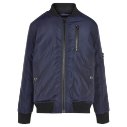 Smart marineblå bomber jacket fra The New