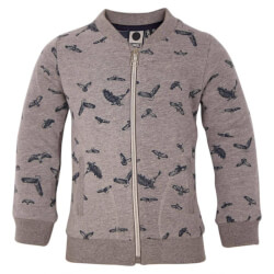 Fed sweat cardigan i gråmelange fra Tumble'n Dry