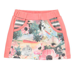 Amy mini nederdel fra Happy Calegi med all-over-print CA1008 set forfra