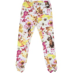 Mini leggings i blomsterprint med elastik fra Happy Calegi - HOPE MINI LEGGINGS, CA1218-ALLOVER-PRINT