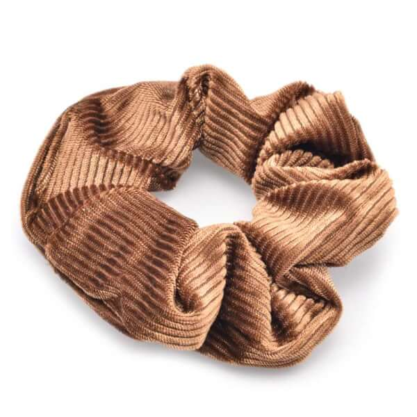 Image of Höjtryk - Velour Scrunchie Brun