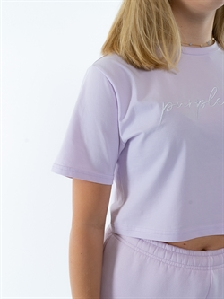Onme - Plain Purple Cropped T-shirt