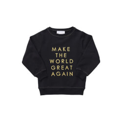 Smart sort sweatshirt med broderet guldmotiv fra By Clara
