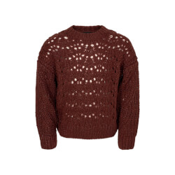 Bordeaux Aviaja strik sweater fra Petit Sofie Schnoor