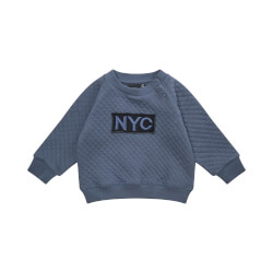 NYC Alfred sweatshirt I Middle Blue fra Petit Sofie Schnoor