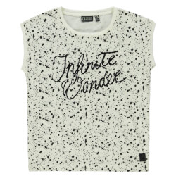 Smart top fra Tumble dry med sort print