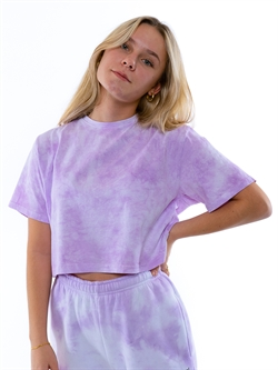 Onme - Tie Dye Purple Cropped T-shirt